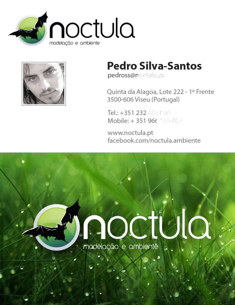 primeiro cartão pessoal do Pedro Silva-Santos com foto de praia