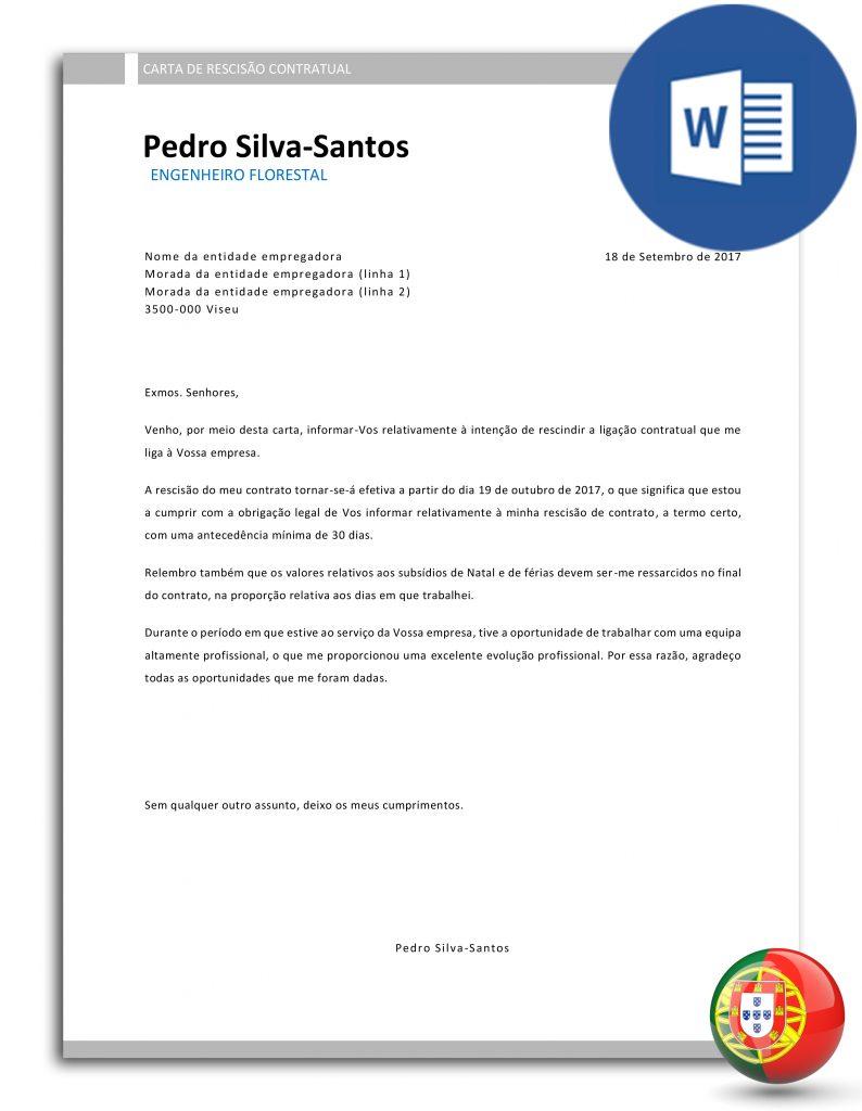 CR-PSS-E30D-003 - carta de despedimento ou demissão-rescisão de contrato