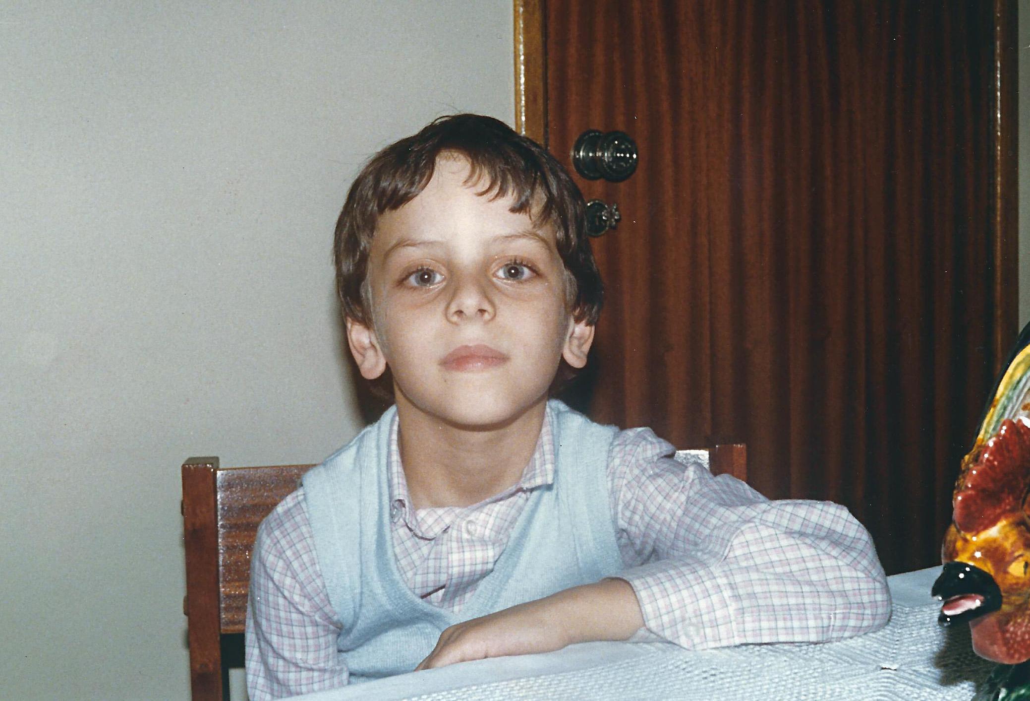 Pedro Silva-Santos com 6 anos