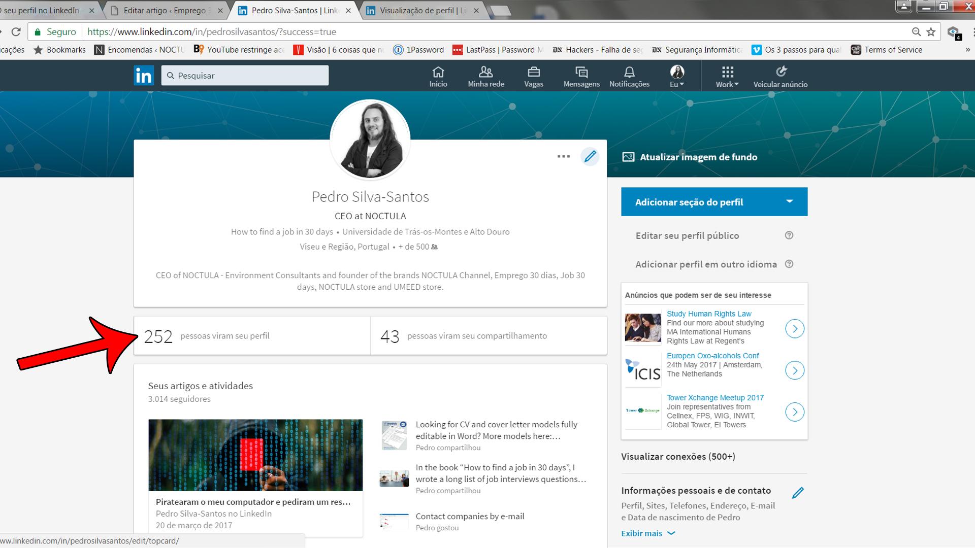 quem viu o seu perfil LinkedIn