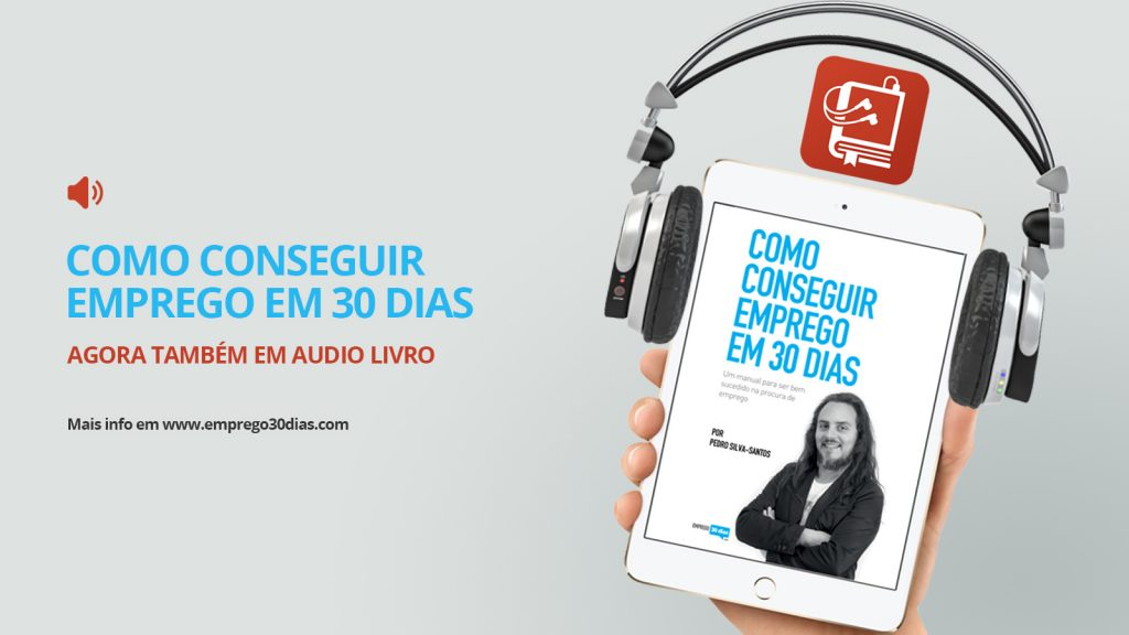 Audio Livro Como conseguir emprego em 30 dias - horizontal