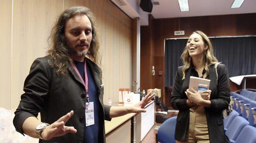 Conversa despreocupada Pedro Silva-Santos e Barbara Corby